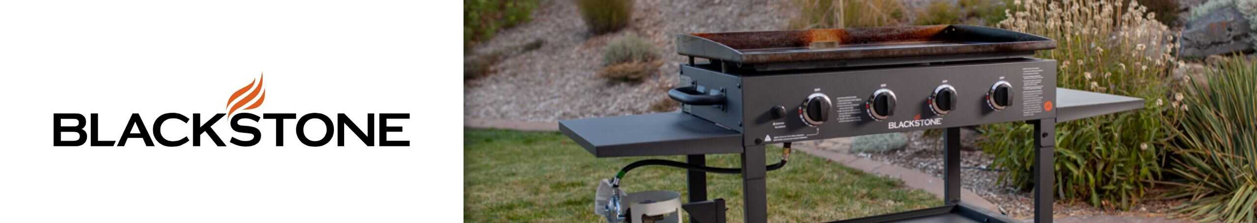 Blackstone griddle in backyard