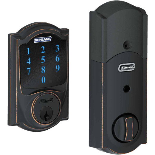 Schlage Connect Touchscreen Aged Bronze Electronic Deadbolt