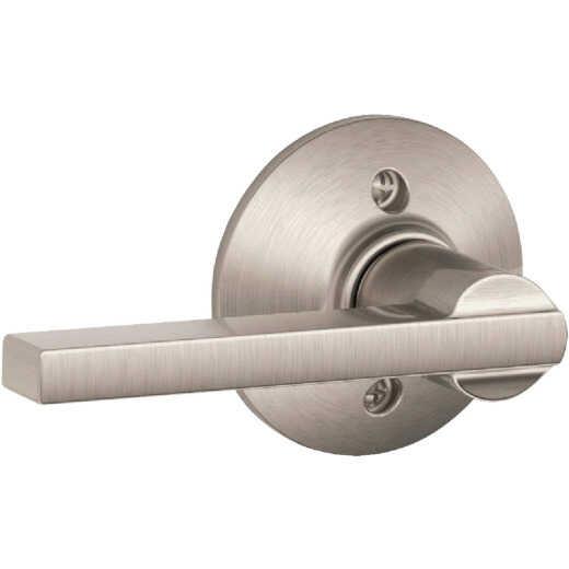 Schlage Latitude Lever Satin Nickel Non-Turning Lock