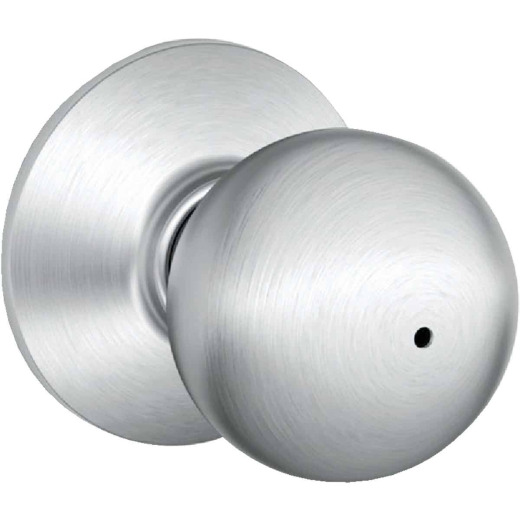 Schlage Orbit Satin Chrome Bed & Bath Door Knob