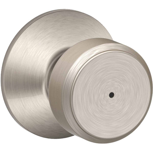 Schlage Bowery Satin Nickel Privacy Door Knob