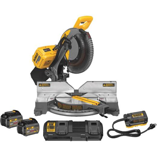 DeWalt Flexvolt 120-Volt MAX Lithium-Ion Brushless 12 In. Dual-Bevel Fixed Cordless Miter Saw Kit