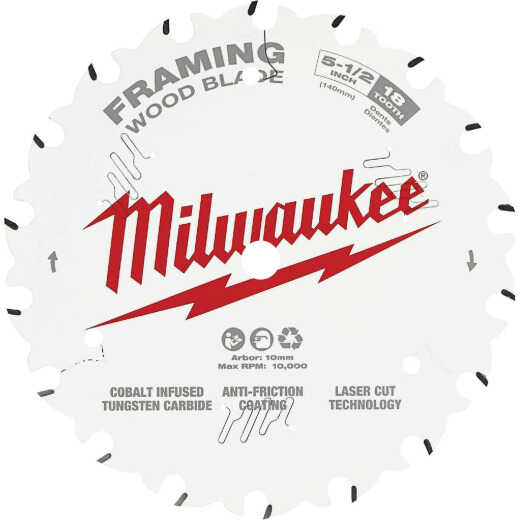 Milwaukee 5-1/2 In. 18-Tooth Framing Circular Saw Blade