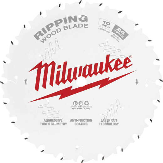 Milwaukee 10 In. 24-Tooth General Purpose Ripping Circular Saw Blade
