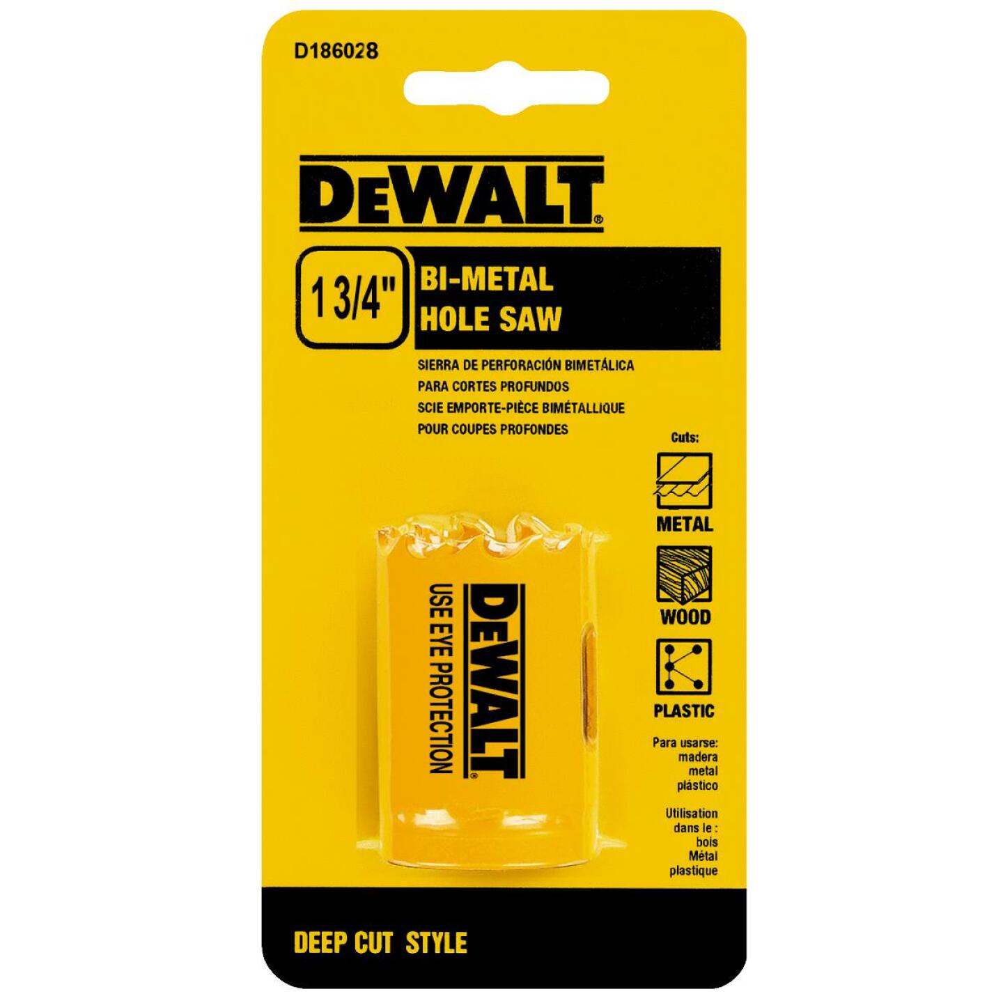 DeWalt 1-3/4 In. Bi-Metal Hole Saw Image 1