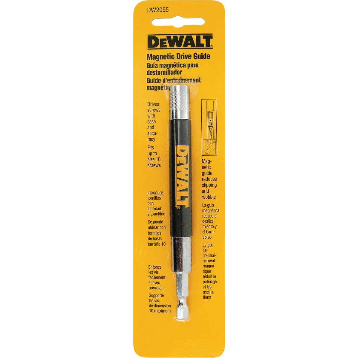DeWalt 1/4 In. Hex x 6 In. Magnetic Drive Guide Bit Holder Image 3