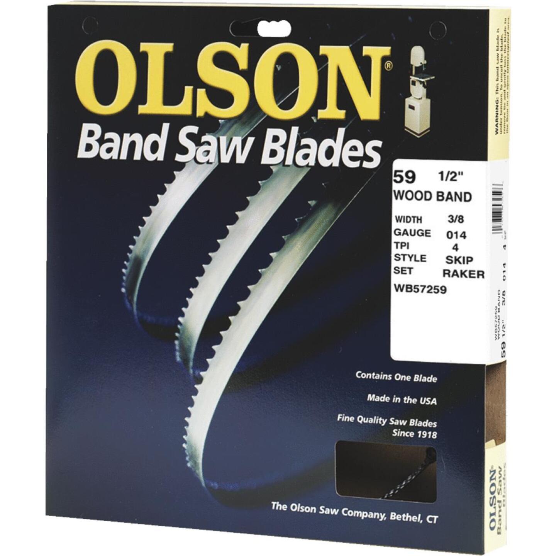 Olson 59-1/2 In. x 3/8 In. 4 TPI Skip Wood Cutting Band Saw Blade Image 1