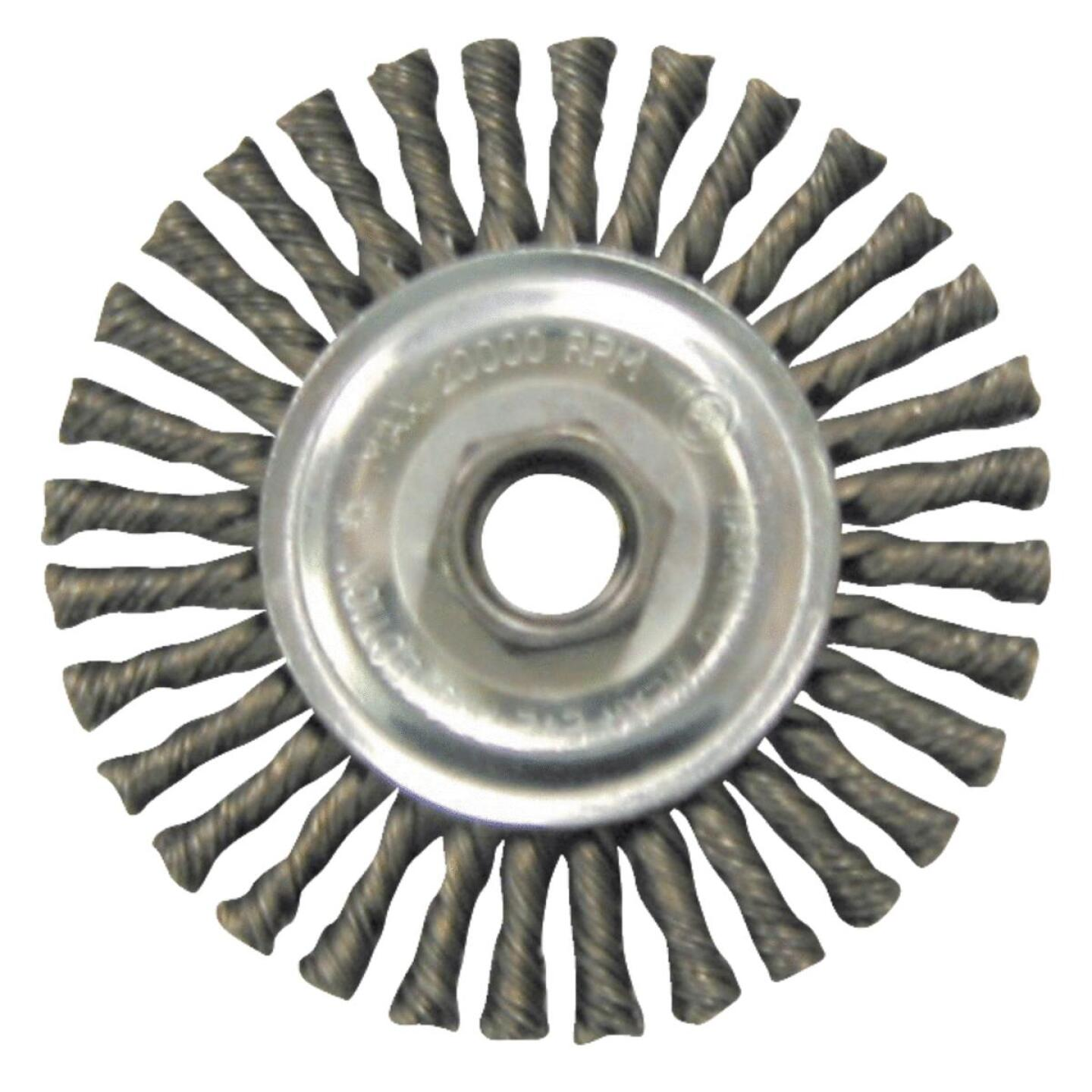Weiler Vortec 4 In. Twisted/Knotted 0.014 In. Angle Grinder Wire Wheel Image 1