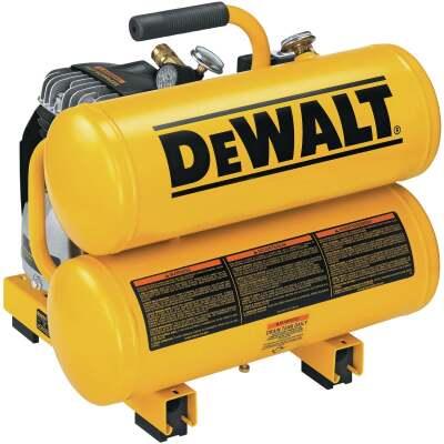 DeWalt 4 Gal. Portable 100 psi Twin-Stack Air Compressor