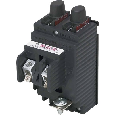 Connecticut Electric 15A/15A Twin Single-Pole Standard Trip Packaged Replacement Circuit Breaker For Pushmatic
