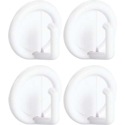 InterDesign Axis Utility Round White Adhesive Adhesive Hook