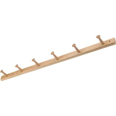 Interdesign Natural Wood 6-Peg Rack