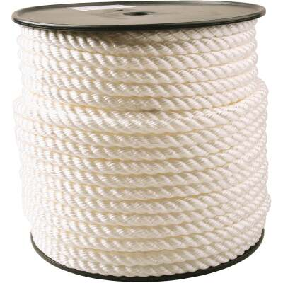 Do it 1/2 In. x 250 Ft. White Twisted Nylon Rope
