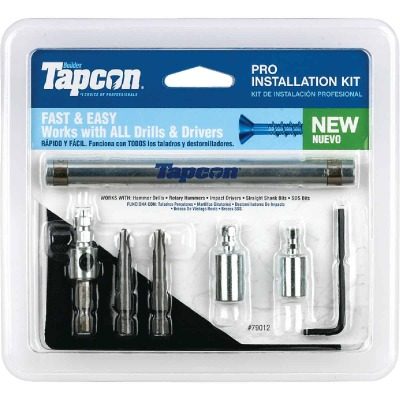 Tapcon Masonry Drill Bit Set (7-Pieces)