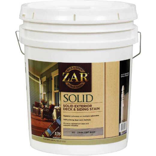 ZAR Solid Deck & Siding Stain, Dark Tint Base, 5 Gal.