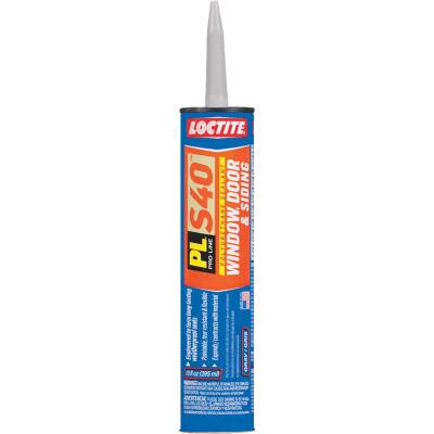 LOCTITE PL S40 10 Oz. Polyurethane Window, Door, & Siding Sealant, Gray