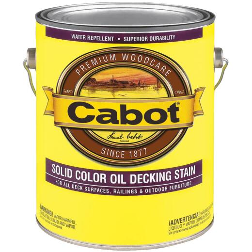 Cabot VOC Solid Color Oil Deck Stain, Neutral Base, 1 Gal.