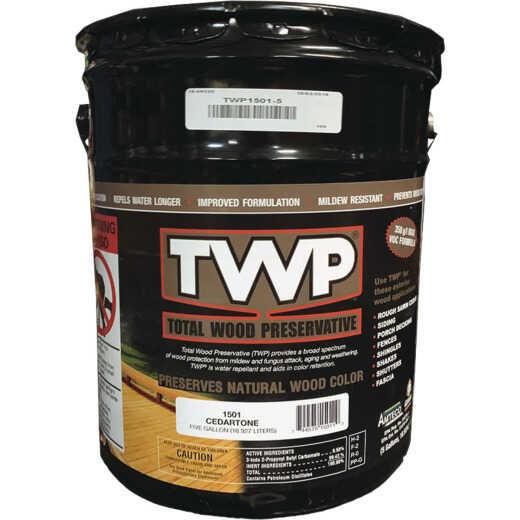 TWP1500 Series Low VOC Wood Preservative Deck Stain, Cedartone, 5 Gal.