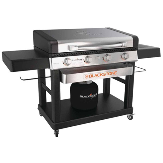 Blackstone Culinary Pro 4-Burner Black/Stainless Steel 15,000 BTU LP Gas Griddle with Hood